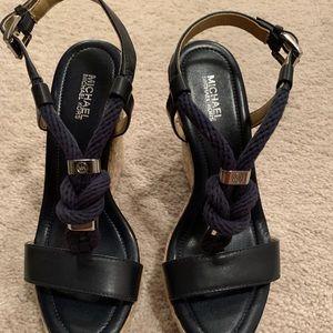 Michael Kors Wedges Navy Blue Size 6.5